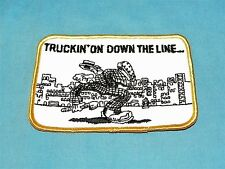 Vintage Truckin On Down the Line Embroidered Patch