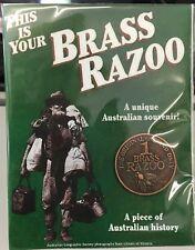 BRASS RAZOO UNIQUE AUSTRALIAN COIN BRAND NEW FREE POSTAGE