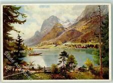 39197946 - 8243 Hintersee sign. H. Stadelhofer Ruderboot Kuenstlerkarte