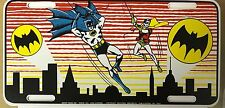 Vintage Batman & Robin 1966 Unused Tin License Plate! Groff Signs Inc.