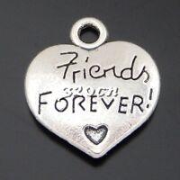 15pcs Vintage Silver Alloy Engraved Friendship Pendants Charms Findings 50591