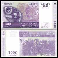Madagascar 1000 Ariary, P-89a, 2004,  UNC, Banknotes