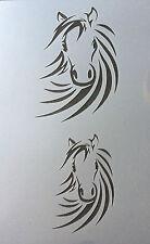 TESTA di cavallo in MYLAR riutilizzabile Stencil Aerografo Pittura Arte Craft fai da te a4