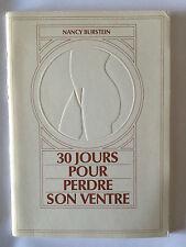 30 JOURS POUR PERDRE SON VENTRE 1983 NANCY BURSTEIN ILLUSTRE