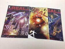 Real Heroes #1-3 (Image/Bryan Hitch/Celbrity Superheroes/101615) Full Set Of 3
