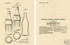 COKE BOTTLE D PATENT Art Print READY TO FRAME!!! US Kelly 1937 Vintage coca-cola