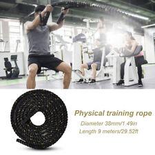 9m Fitnessseil Trainingsseil Sportseil Schlagseil Battle Rope Tau Seil Ø38mm