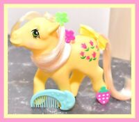 ❤️My Little Pony MLP G1 Vtg 1984 Posey Original BRUSH Magenta Pink Tulips EURO❤️
