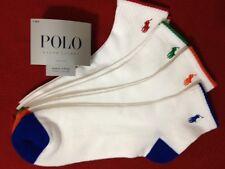 Polo Ralph Lauren 4-Pair Athletic Quarter Crew  Socks White / Multi   (2030)