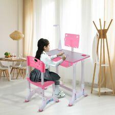 New ListingChildren's Desk Chair Set Height Adjustable Study Table Set Kids WorkStation Us