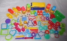 78 PLAY-DOH PLAY DOH SHAPES MOLD PART PIECE ANIMALS PEOPLE KNIVES POTATO HEAD