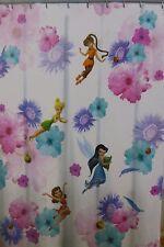 "Disney Fairies Microfiber Shower Curtain 72"" x 72"" NIP"