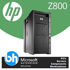 HP Z800 2x Xeon Quad Core 2.40GHz 48GB RAM 500GB Windows 10 Workstation Tower