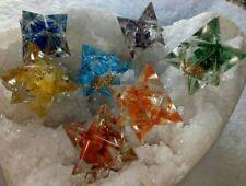 Reiki Energy Charged Set Of 7 Chakra Crystal Stones Merkaba Star UK