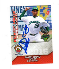 Angel Duno 2016 Midwest League All Star auto signed card Burlington Bees