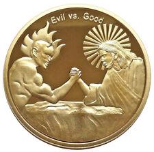 In God We Trust Good vs Evil Christian Faith Challenge Coin - Religious Gift