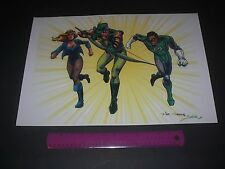 DC COMICS JUSTICE LEAGUE GREEN LANTERN,GREEN ARROW,BLACK CANARY POSTER PIN UP