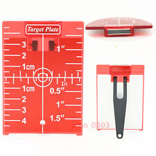 Red Magnetic Ceiling Target Plate with Leg For Laser Level Meter Cross Line