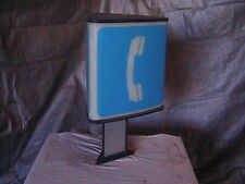 Telephone Booth Lighted Sign 3 Sided Phone Sign Bell System