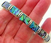 "PAUA Shell abalone Nature's 1 Stretch Bracelet 3/8""W Wheeler Mfg. STB 001"