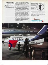 EASTERN AIRLINES METRO EXPRESS JETSTREAM 31 AT ATL #N823US AT NIGHT 727-200 AD