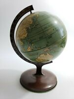 Vintage 1930s  J. Chein & Co Tin Lithograph Spinning World Table Globe Child Toy