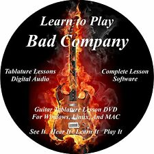 Bad Company Guitar TABS Lesson CD 43 Songs! + Backing Tracks +  BONUS!