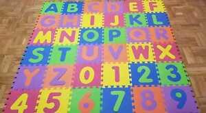 Manta de juegos alfabeto puzzle alfombra rompecabezas 36 piezas goma espuma EVA.