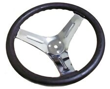 "10"" Chrome Plated Steel Steering Wheel Go Kart Off Road Cart Manco Dingo Yerf"