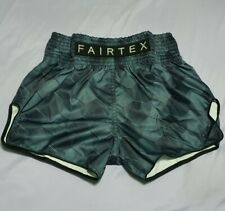 SHORTS FAIRTEX BS1902 MUAY THAI FIGHT KICK BOXING MMA GREEN S SATIN ADULT UNISEX