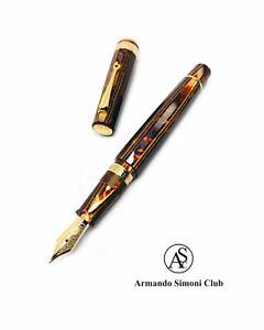 Armando Simoni Club Ltd Edition Gladiatore Medio Arco Bronze Fountain Pen ASC