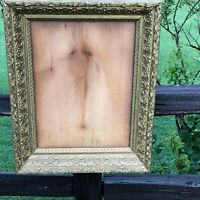 "Antique Ornate 1890s Victorian Gold Gilt Carved Wood Frame 25"" X 20"""
