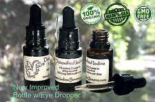 >*3 Bottles* ORGANIC Cayce Detoxified Nascent Iodine Colloidal Thyroid Radiation