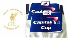 2016 Liverpool CAPITAL ONE CUP FINAL Official Football MDT & Badge Patch Set