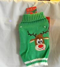 PET SWEATER REINDEER XS NEW WITH TAG