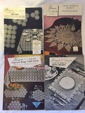 4 X Vintage Paragon Crochet Book, Doilies, Irish, Motifs  Table Cloths