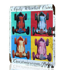 WALL SIGN Andy Warhol Cars Poster Art Vintage Retro ART Decor Wall HOME Rusted