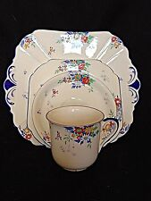 shelley art deco cup saucer dessert and cake plates quatro