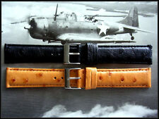 Genuine Ostrich exotic watchband strap Full Quill IW SUISSE 12-14-17-18-19-20-22