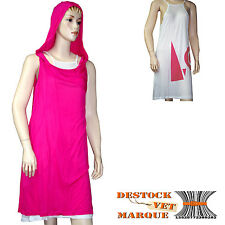 Robe capuche I.CODE by IKKS femme rose et blanche taille 40