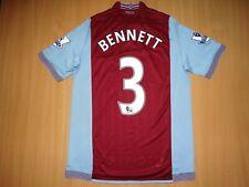 RARE Aston Villa #3 BENNETT Home Football Shirt Jersey 2013 2014 M/L