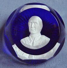 Cr D'Albret Franklin Mint John Paul Jones Faceted Crystal Cameo Paperweight 1975