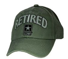 US ARMY RETIRED - U.S. Army with Army Star Officially Licensed Baseball Cap Hat