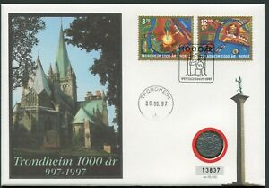 Norway 1997 Tryggvason Penning UNC Allegory in Trondheim Millenium Cover