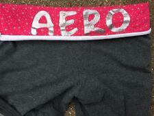 SALE !! AEROPOSTALE Aero 1987 NY Yoga Running Silver Casual Pants Womens Sz M