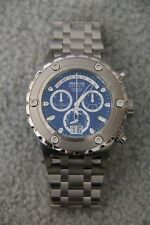 NEW Invicta # 1564 Subaqua Reserve Chronograph Stainless Steel Blue Face Watch