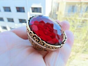 Details about  /Men/'s Ring 925 Sterling Silver Turkish Handmade Jewelry Ruby Stone
