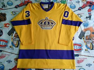 100% Authentic Pro 52 Los Angeles Kings 1971-72 Blank Mitchell & NessVtg Jersey