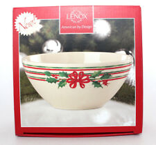 Lenox Home for the Holidays Striped Bowl 875037 New in Box