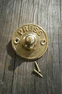 LOVELY SOLID BRASS ANTIQUE STYLE DOOR BELL PUSH HOUSE FRONT DOOR BELL PRESS